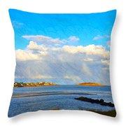 Good Harbor Clouds And Sun Throw Pillow