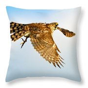 Good Hawk Hunting Throw Pillow