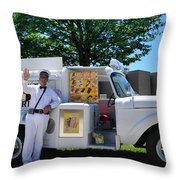 Good Humor Man Throw Pillow