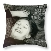 Good Laugh Quote Throw Pillow