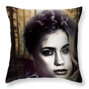 Good Listener But Bad Marriage Material, I Present You Claudette Potreaux Throw Pillow