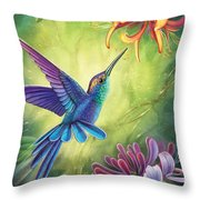 Good Luck - Honeysuckle Throw Pillow by Anne Wertheim