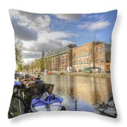 Good Morning Amsterdam Throw Pillow