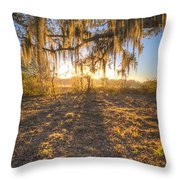 Good Morning At The Oak Throw Pillow