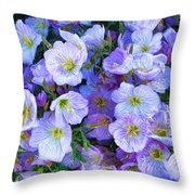 Good Morning Blossoms Throw Pillow