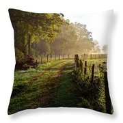 Good Morning Cades Cove II Throw Pillow