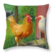Good Morning  Dudley Throw Pillow