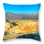 Good Morning From Zabriskie Point Throw Pillow