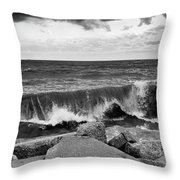 Good Morning In Black And White Throw Pillow