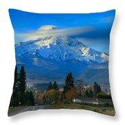 Good Morning Mount Hood Throw Pillow