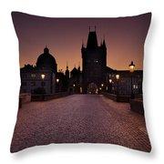 Good Morning Prague  Throw Pillow