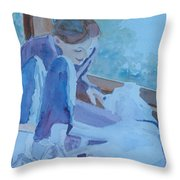 Good Morning Puppy Throw Pillow