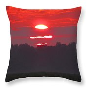Dawn At Old River Throw Pillow