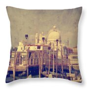 Good Morning Venice Throw Pillow