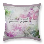Good News Produces Good Health Throw Pillow