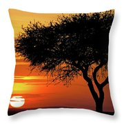 Good Night, Maasai Mara Throw Pillow