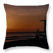 Good Night Newport Beach Throw Pillow