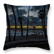 Good Night San Clamente Pier 2 Throw Pillow