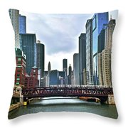 Good Old Chicago Throw Pillow