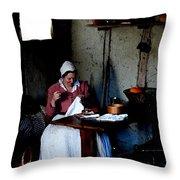 Good Pilgrim Wife Throw Pillow