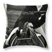 Good Ride Quote Throw Pillow