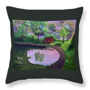 Good Spring Morning Throw Pillow