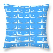 Up Tempo In Baby Blueberry Throw Pillow