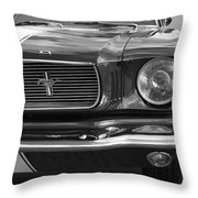 Good Vibrations - Black And White Throw Pillow