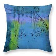 Good Vibrations Three Throw Pillow