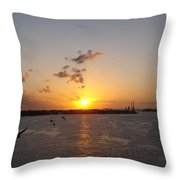 Goodby Sunset Throw Pillow