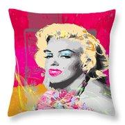 Goodbye Norma Jean  Throw Pillow