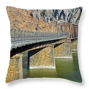 Goodloe E. Byron Memorial Footbridge Throw Pillow