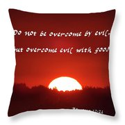 Goodness Romans Throw Pillow