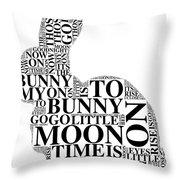 Goodnight My Bunny Throw Pillow