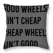 Goodwheels Throw Pillow