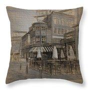 Goody Glovers Irish Pub - Boston Throw Pillow