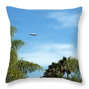 Goodyear Blimp Spirit Of Innovation In Florida Throw Pillow
