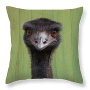Goofing Around Emu Throw Pillow