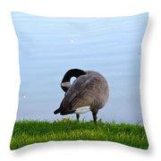 Goose #1 Pose Throw Pillow