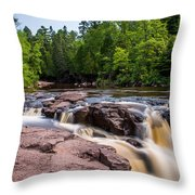 Goose Berry River Rapids Throw Pillow