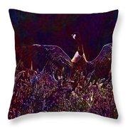 Goose Bird Wildlife Nature Fly  Throw Pillow