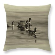 Goose Bumps Throw Pillow