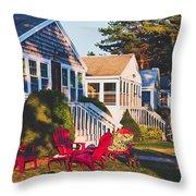 Goose Creek Beach Cottages Throw Pillow