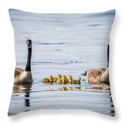 Goose Family Throw Pillow