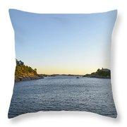 Goose Neck Cove - Newport Rhode Island Throw Pillow