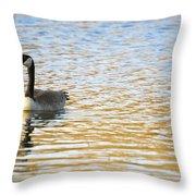 Goose On The Pond Throw Pillow