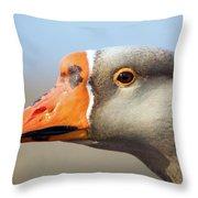Goose Portrait Throw Pillow