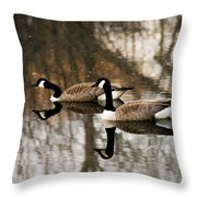 Goose Reflection Throw Pillow