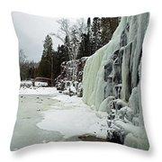 Gooseberry Frozen Falls Throw Pillow