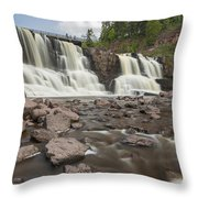 Gooseberry Middle Falls 24 Throw Pillow